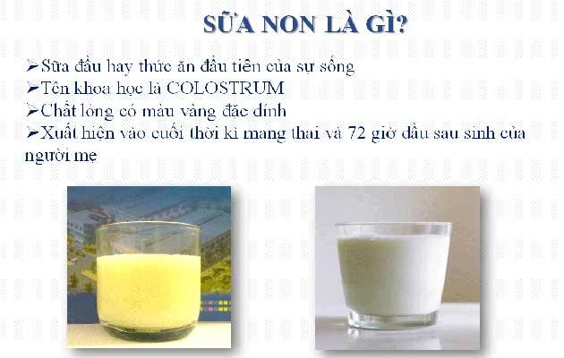 Sữa non đối với trẻ sơ sinh