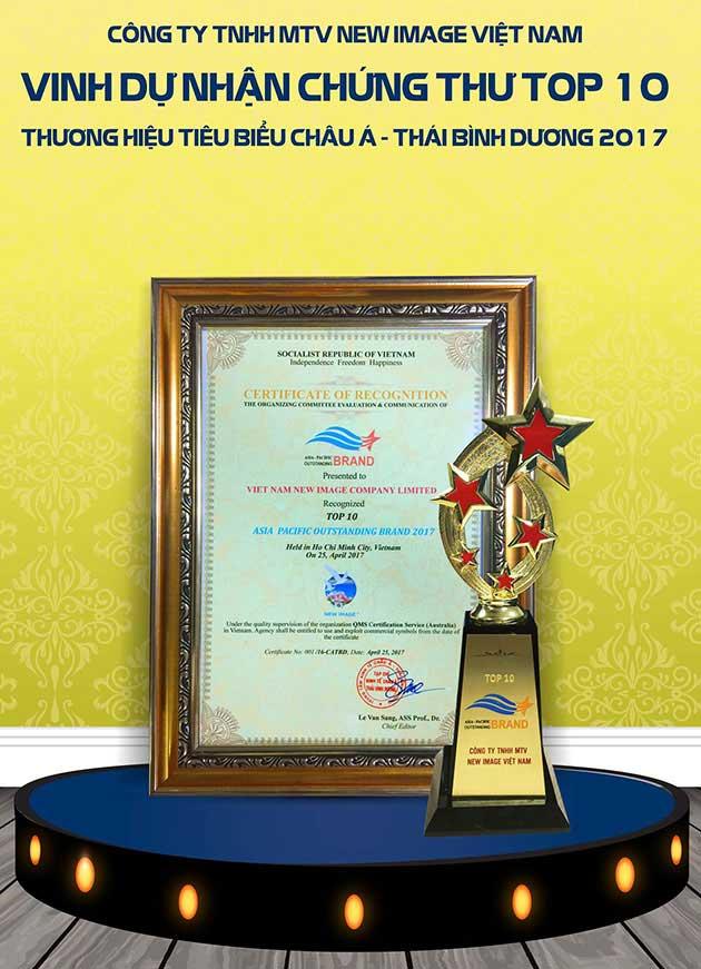 New Image Việt Nam nằm trong top 10 thương hiệu tiêu biểu Châu Á - Thái Bình Dương