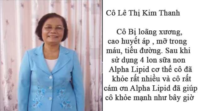 Nhân chứng sử dụng sữa non alpha lipid - Cô Lê Thị Kim Thanh