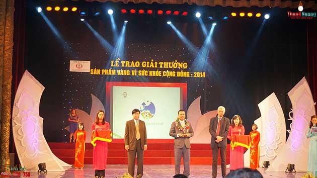 Sữa non alpha lipid đạt giải thưởng sản phẩm vàng vì sức khỏe cộng đồng năm 2014