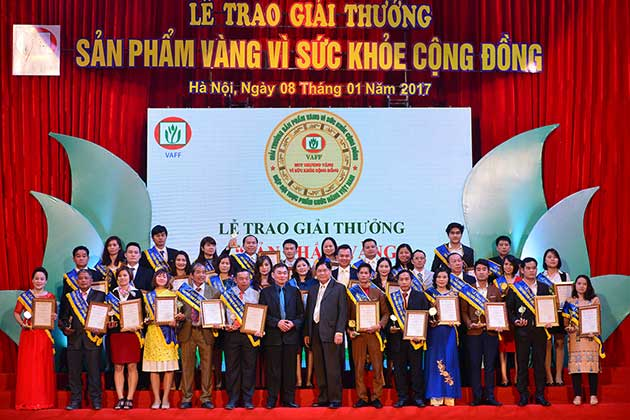 Sữa non alpha lipid đạt giải thưởng sản phẩm vàng vì sức khỏe cộng đồng năm 2017