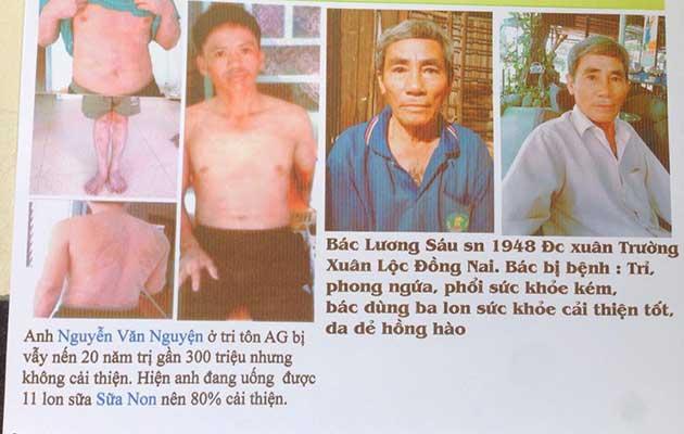 Nhân chứng sử dụng sữa non alpha lipid - anh Nguyễn Văn Nguyện và bác Lương Sáu