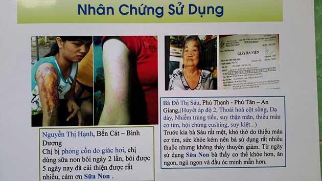 Nhân chứng sử dụng sữa non alpha lipid - Chị Nguyễn Thị Hạnh và bà Đỗ Thị Sáu.