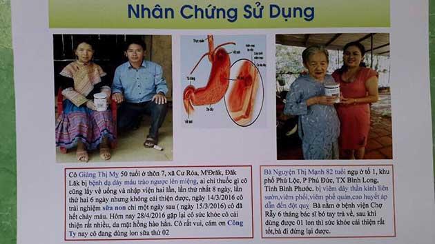 Nhân chứng sử dụng sữa non alpha lipid - cô Giang Thị Mỵ và bà Nguyễn Thị Mạnh.