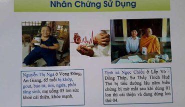 Nhân chứng sử dụng sữa non alpha lipid - Nguyễn Thị Nga, sư thầy Thích Huệ Thủ.
