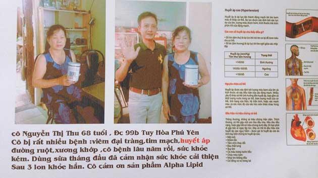Nhân chứng sử dụng sữa non alpha lipid - Nguyễn Thị Thu.