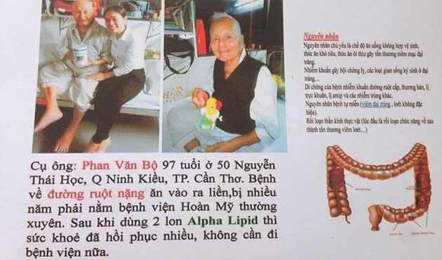 Nhân chứng sử dụng sữa non alpha lipid - Phạm Văn Bộ.